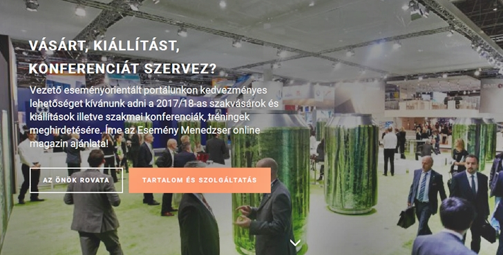 Esemény Menedzser - vásárok, kiállítások, konferenciák, tréningek