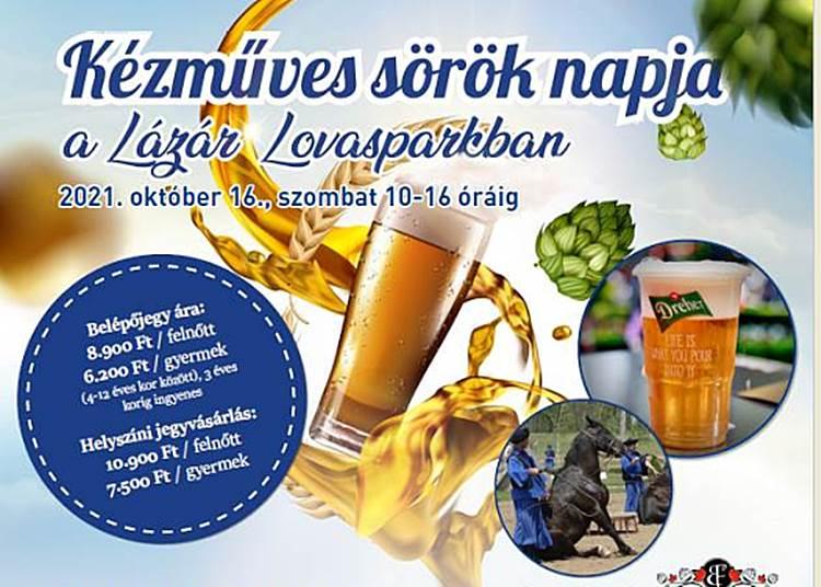 Kézműves sörök napja a Lázár Lovasparkban, 2021. október 16.