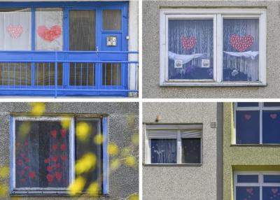 Szívecskék az ablakokban